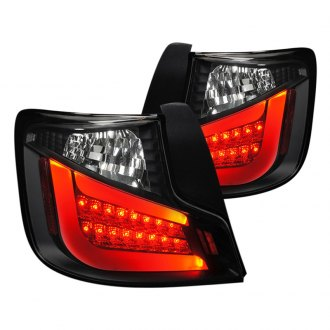 Spec-D® - Black/Red Fiber Optic LED Tail Lights
