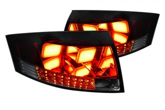 Spec-D® - Red/Smoke Euro Tail Lights with LEDs Ver.2