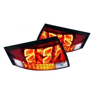 Spec-D® - Red/Clear Euro Tail Lights with LEDs G2