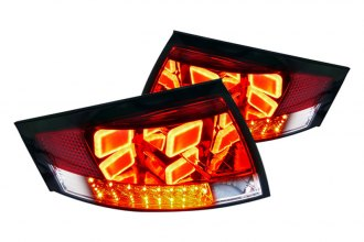 Spec-D® - Red/Clear Euro Tail Lights with LEDs Ver.2