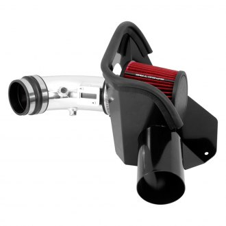 Spectre Performance® - Aluminum Polished Cold Air Intake System with Red Filter