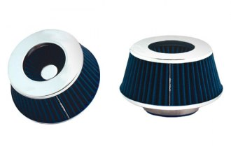 "Spectre Performance® 8166 - HPR™ P2 Air Filter 3""- 4"" Cone - 3.7"" Tall - Blue/Chrome"