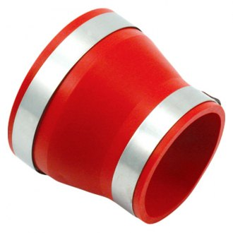 Spectre Performance® - 4- 3.5 Air Intake Reducer Coupler with 2 Clamps - Red PVC