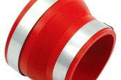 "Spectre Performance® - 4""- 3"" Air Intake Reducer Coupler - Red PVC"