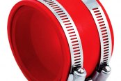 "Spectre Performance® - 4""- 3.75"" Air Intake Reducer Coupler with 2 Clamps - Red PVC"