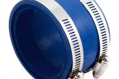 "Spectre Performance® - 4""- 3.75"" Air Intake Reducer Coupler with 2 Clamps - Blue PVC"