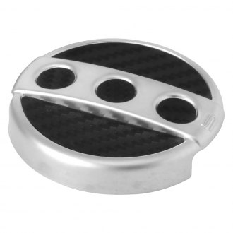 Spectre Performance® - Circular Design Silver Windshield Washer Cap Cover