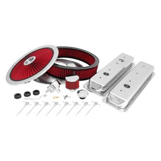 Spectre Performance® - Polished Engine Dress-Up Kit with Extraflow Air Cleaner