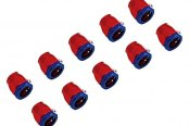 "Spectre Performance® - 0.5"" I.D. Magna-Clamp Heater Hose/Oil Line Fitting - Red and Blue (10pc)"