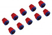 "Spectre Performance® - 5/8"" I.D. Magna-Clamp Heater Hose/Oil Line Fitting - Red and Blue (10pc)"