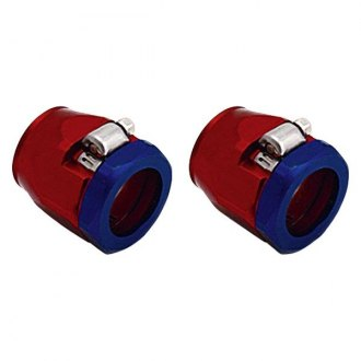 Spectre Performance® - 0.75 I.D. Magna-Clamp Heater Hose/Oil Line Fitting - Red and Blue