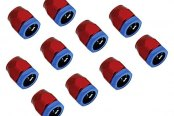"Spectre Performance® - 0.75"" I.D. Magna-Clamp Heater Hose/Oil Line Fitting - Red and Blue (10pc)"