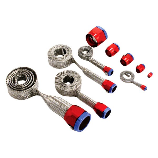 Spectre Performance® - Magnabraid Stainless Sleeving Kit with Red and Blue Magna-Clamps
