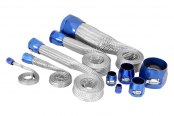 Spectre Performance® - Magnabraid Stainless Sleeving Kit with Blue Magna-Clamps