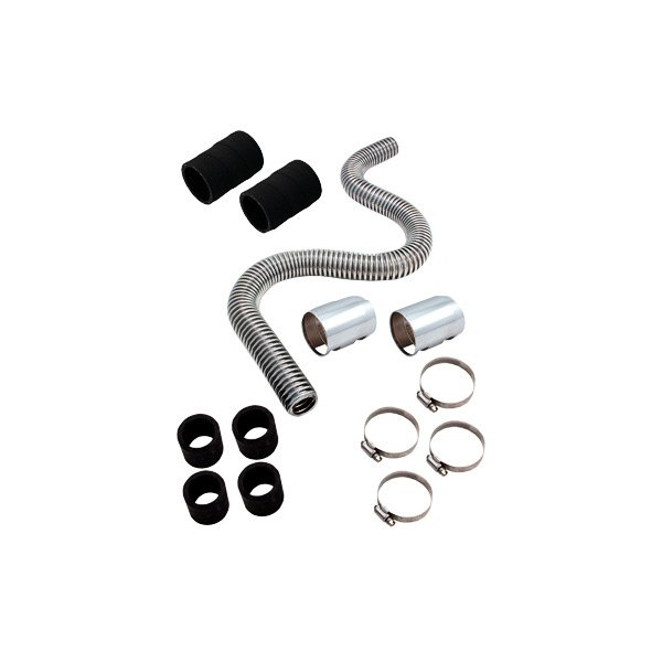 "Spectre Performance® - 48"" Magna-Kool Stainless Steel Radiator Hose Kit with Chrome End Covers"