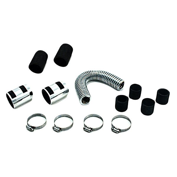 "Spectre Performance® - 12"" Magna-Kool Stainless Steel Radiator Hose Kit with Chrome End Covers"