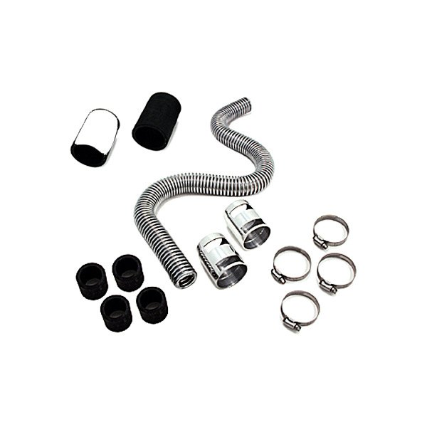 "Spectre Performance® - 36"" Magna-Kool Stainless Steel Radiator Hose Kit with Chrome End Covers"