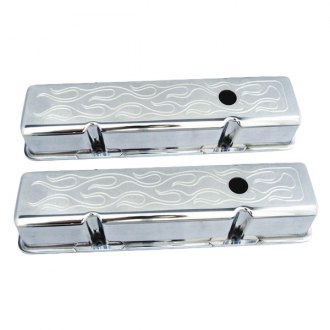 Spectre Performance® - Polished Flamed Valve Cover Set