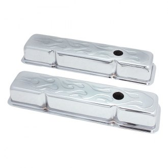 Spectre Performance® - Chrome Flamed Valve Cover Set