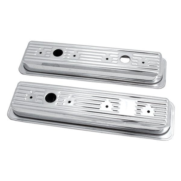 Spectre Performance® - Stainless Steel Centerbolt Short 3-Hole Design Valve Cover Set