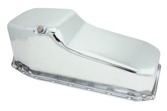 Spectre Performance® - 4 Qt Rear Sump Chrome Plated Oil Pan