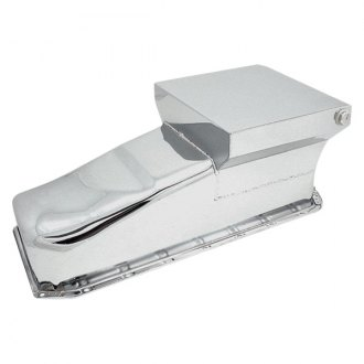 Spectre Performance® - 7 Qt Rear Sump Chrome Plated Oil Pan
