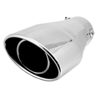 Spectre Performance® - 6.5x 3.75 O.D. Oval Style Exhaust Tail Pipe Tip with Resonator
