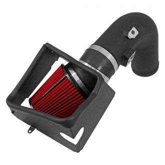 Spectre Performance® - Die-Cast Aluminum Textured Black Cold Air Intake System with HPR® Red Filter