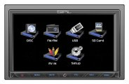 SPL® - Double DIN DVD/CD/MP3/USB Stereo Receiver with 7'' Touchscreen