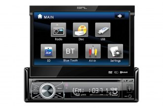 "SPL® -  Single DIN Stereo DVD Player w/ith 7"" LCD Touchscreen"