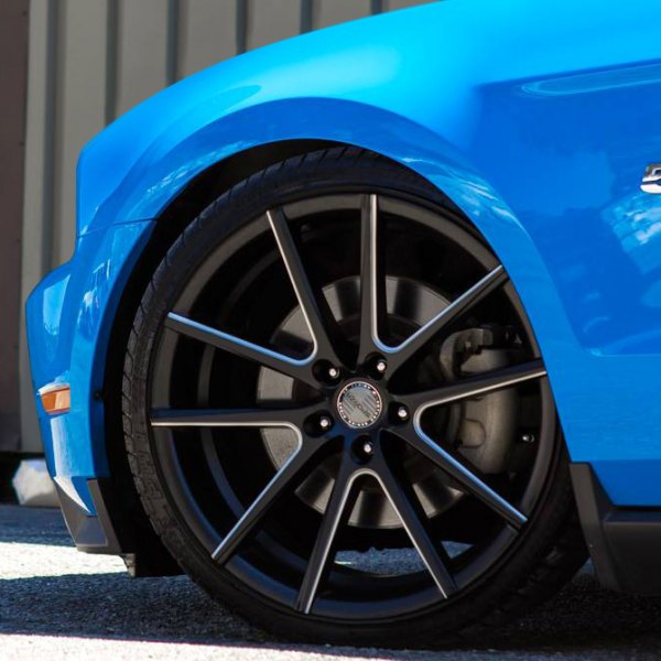 SPORZA® - V5 Satin Black with Milled Accents on Ford Mustang