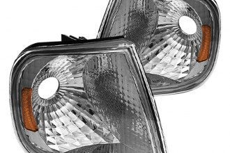 Spyder® - Chrome Euro Corner Lights with Amber Reflectors
