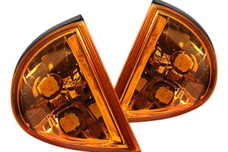 Spyder® - Chrome Corner Lights with Amber Reflectors