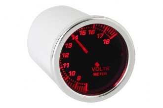 "Spyder® - 2.1"" Volt Meter with Smoke Gauge 7 Color Display"