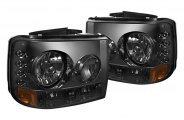 Spyder® - Smoke Euro Headlights with LEDs