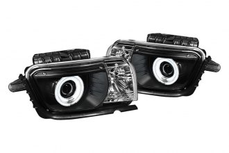 Spyder® 444-CCAM2010-CCFL-BK - Black CCFL Dual Halo Projector Headlights with LEDs