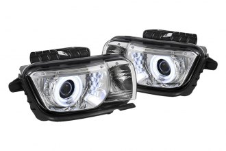 Spyder® - Chrome CCFL Dual Halo Projector Headlights with LEDs