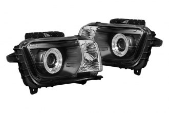 Spyder® - Black Dual Halo Projector Headlights with LEDs