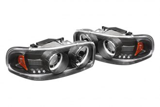 Spyder® 444-CDE00-CCFL-BK - Black CCFL Halo Projector Headlights with LEDs