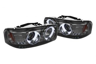 Spyder® - Smoke CCFL Halo Projector Headlights with LEDs