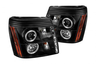 Spyder® 444-CE02-DRL-BK - Black Halo Projector Headlights with LEDs