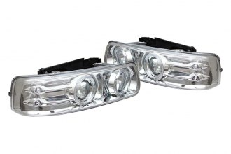 Spyder® 444-CS99-HL-C - Chrome Halo Projector Headlights with LEDs