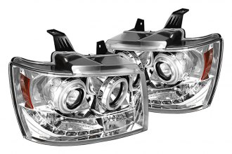 Spyder® 444-CSUB07-CCFL-C - Chrome CCFL Halo Projector Headlights with LEDs