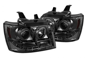 Spyder® 444-CSUB07-CCFL-SM - Smoke CCFL Halo Projector Headlights with LEDs