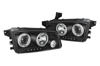 Spyder® 444-DCH05-CCFL-BK - Black CCFL Halo Projector Headlights with LEDs