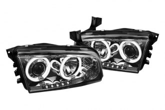 Spyder® 444-DCH05-CCFL-SM - Smoke CCFL Halo Projector Headlights with LEDs