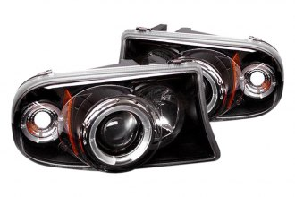 Spyder® 444-DDAK97-BK - Black Halo Projector Headlights with LEDs