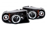 Spyder� - Black CCFL Halo Projector Headlights with LEDs