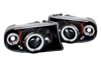 Spyder® 444-DDAK97-CCFL-BK - Black CCFL Halo Projector Headlights with LEDs