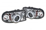 Spyder� - Chrome CCFL Halo Projector Headlights with LEDs